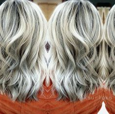 Beautiful #blonde! Priscilla Reyes did foil highlights and balayage to a light pale blonde and glazed with #KenraColor SV Rapid Toner for 4-5 minutes.