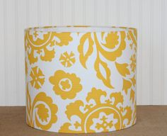 Hey, I found this really awesome Etsy listing at https://www.etsy.com/listing/151229825/drum-lamp-shade-lampshades-yellow-suzani