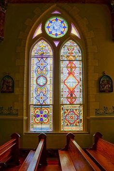 Stained Glass ~ St. Mary's Catholic Church, High Hill, TX