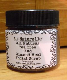 All Natural Exfoliating Facial Scrub    Tea Tree by aunaturelle, $7.00