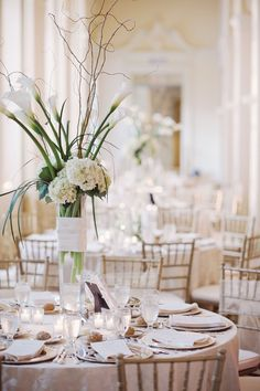 Tall White Wedding Centerpiece Ideas