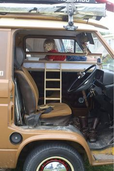 Different Cab bunk Idea... just need to learn woodwork now! Cab bunk made by Max Hodge: Facebook group VW T25 Club (he may sell them...)
