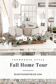 I thought it would be fun to share with you my farmhouse style fall home tour! I've already shared a few spaces with you this year, but I wanted to round up Farmhouse Wall Decor, Farmhouse Style, Rustic Farmhouse, Fall Home Decor, Autumn Home, Fall Living Room, Fall Entryway, Thanksgiving Decorations, Thanksgiving Ideas