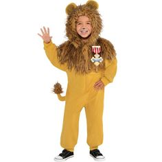 Toddler Boys Zipster Cowardly Lion One Piece Costume - The Wizard of Oz