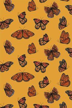 Aesthetic Pastel Wallpaper, Aesthetic Backgrounds, Aesthetic Wallpapers, Butterfly Wallpaper Iphone, Iphone Background Wallpaper, Photowall Ideas, Orange Wallpaper, Iphone Wallpaper Yellow, Dark Wallpaper