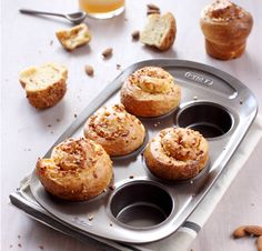 Pyrex asimetriA Moule à 6 muffins en métal avec prise en main facile