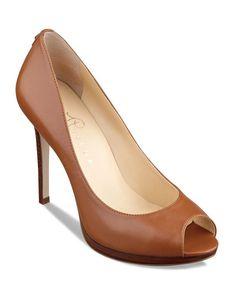Ivanka Trump Peep Toe Platform Pumps - Maggie High Heel