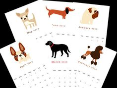 2013 Dog Calendar by Square Paisley Design