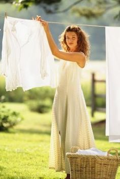 """the """"clothesline""""...i love it when I put things out on the clothes line..the fresh smell,it's better then drier sheets"""