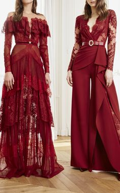 Vreeland Tiered Lace Gown by Zuhair Murad Beautiful Gowns, Beautiful Outfits, Beautiful Clothes, Morrocan Fashion, Red Pantsuit, Fashion Models, Fashion Outfits, Red Carpet Gowns, Zuhair Murad