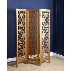 Shop for ABBYSON LIVING Marseille Gold 3-piece Folding Screen. Get free delivery at Overstock.com - Your Online Home Decor Outlet Store! Get 5% in rewards with Club O!