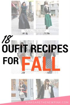A look at outfit recipes and how they can help build your fall wardrobe…