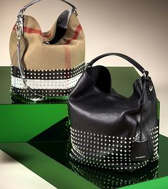Relaxed hobo bags with distinctive stud detail from the Burberry S S13  accessories collection Luggage 0dbf610c0749a