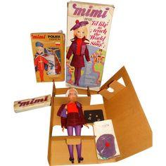 Remco MIB 1972 20' Singing Mimi Doll w/MIB Polish Outfit
