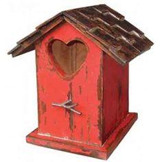 "Bramble 12"" Red Heart Bird House"