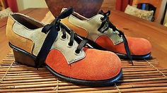 Vtg New Old Stock 60s 70s - MOXEES - Haute Mod Couture Suede Saddle Oxford Shoes