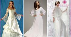 Svadobné šaty s dlhým rukávom 2015 populárne modely pre nevesty s fotografiami