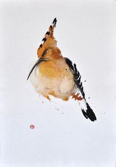 beautiful bird watercolors by Karl Marten