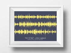 First Dance Song Lyric Sound Wave Art - Your Favorite Song Lyrics, First Anniversary Gift For Him/Her, Paper Anniversary Gift, Wedding Gift