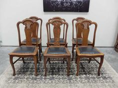 Serpentine Seat Quartered Oak Dining Chairs from Antiques By Design Antique Dining Chairs, Antiques, Furniture, Design, Home Decor, Chairs, Antiquities, Antique, Decoration Home