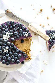 ... yogurt blueberry cheesecake (vegan) ...