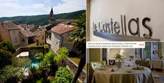 Le Castellas restaurant and hotel in Collias