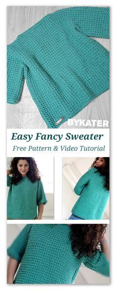 """Un pulover """"Fancy"""" : un proiect crosetat usor si rapid – ByKaterina"""