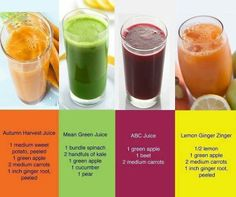 Juice Recipes for Everyone! Which one are you going to try today? Which have you tried and tasted already? Perfect for sharing with friends and families.