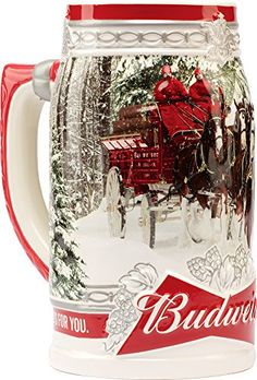 Budweiser 2017 Holiday Stein with a custom-designed Branded gift box for sale online Niall Horan, Get Healthy, Construction For Kids, Forks And Spoons, Clydesdale, Cool Mugs, Beer Mugs, Vintage Branding, Chihuahua