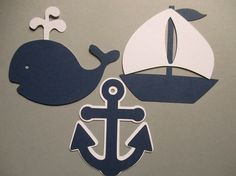 6 Nautical 3 size options Theme Decorations by partytymeshop