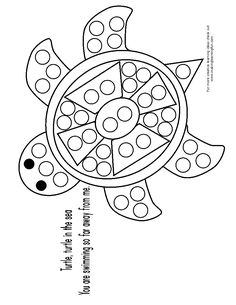Roll and Color Turtle, Preschool Math Worksheet, Free Math