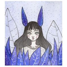 I Made Illustrations With Imaginary Characters Based On My Moods Fashion Drawing Dresses, Character Base, My Mood, Watercolour Painting, Female Characters, Dots, Purple, Blue, Stripes