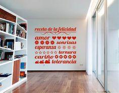 Ebre Vinil Vinilos Decorativos Frases La Receta del Amor 02739