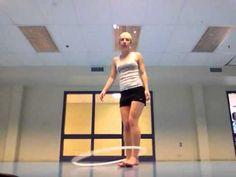 Beginner legs to waist hooping - YouTube
