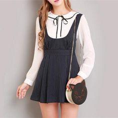 S/M/L Black Stripes Sleeveless Dress SP154285