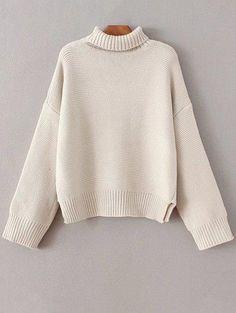 De gran tamaño de la tortuga suéter de cuello