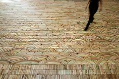 Marbelous Wood by Snedker Studio   Trendland: Design Blog & Trend Magazine Parquet Flooring, Laminate Flooring, Timber Flooring, Flooring Ideas, Hardwood Floors, Wood Arch, Marble Wood, Gold Marble, Wood Slab