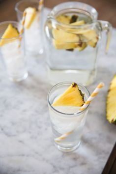 Save this easy drink recipe to make Pineapple Orange Water With Ginger.