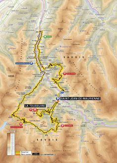 #TDF2015 Planimetria Tappa 19: Saint-Jean-de-Maurienne > La Toussuire
