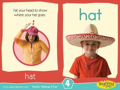 Sign of the Week - Hat - Signing Time Sign Language Book, Sign Language For Kids, British Sign Language, Business Facebook Page, Asl Signs, Deaf Culture, School Signs, Language Lessons, Circle Time