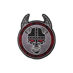 """Custom patch by Velocity Patches. Vikings never die they just look dead. Vikings are Odin's warriors and so shall you. Never leave you inner Viking behind!  """"He who lives without discipline dies without honor""""  -Icelandic Proverb  Material: Embroidered  Size: 3x3.5  Velcro: Hook Velcro (Hard Pile)"""
