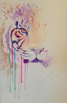 Watercolor Tiger Related Keywords & Suggestions - Watercolor Tiger ...