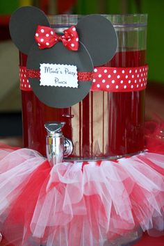Minnie Mouse Party Punch...but pink.. pink lemonade maybe?