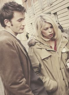 billie piper and david tennant. Rose and the Doctor were the best! - yes they were!!