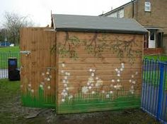 Another flower themed shed...