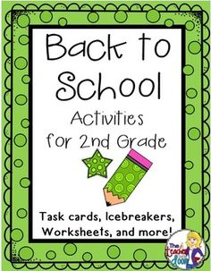 This 44 page set of worksheets, task cards, games, a writing activity, math activities and more will keep your kids busy learning the first week. These activities are great not only for student learning, but to provide you as a teacher, a simple way to get to know the kids, while allowing them to get to know one another, and helping them make the transition to a new classroom. Love this for Back to School! (TpT Resource)