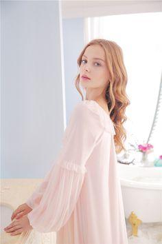 c5d0e6d380 Lily s Secret Ultra Soft Gauze Vintage Night Gown Women Spring. Cute PjsVintage  ...