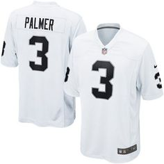 478d078cd Nike Raiders 3 Carson Palmer Nike Game Jersey Away white NFL Jersey Oakland  Raiders Fans