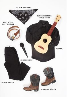 Little Musicians Costumes: Johnny Cash   Oh Happy Day!
