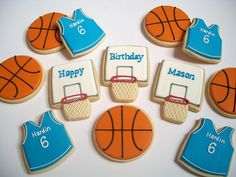 first birthday basketball cookies Basketball Birthday Parties, First Birthday Parties, First Birthdays, Birthday Ideas, Birthday Recipes, Basketball Cookies, Happy Birthday Son Images, Happy Friday, Cookie Decorating